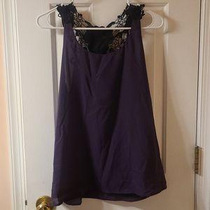 Purple & Black Lace Tank top